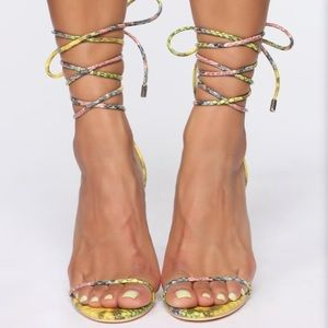 multicolored heels (worn once)
